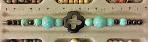Turquoise Cross bracelet