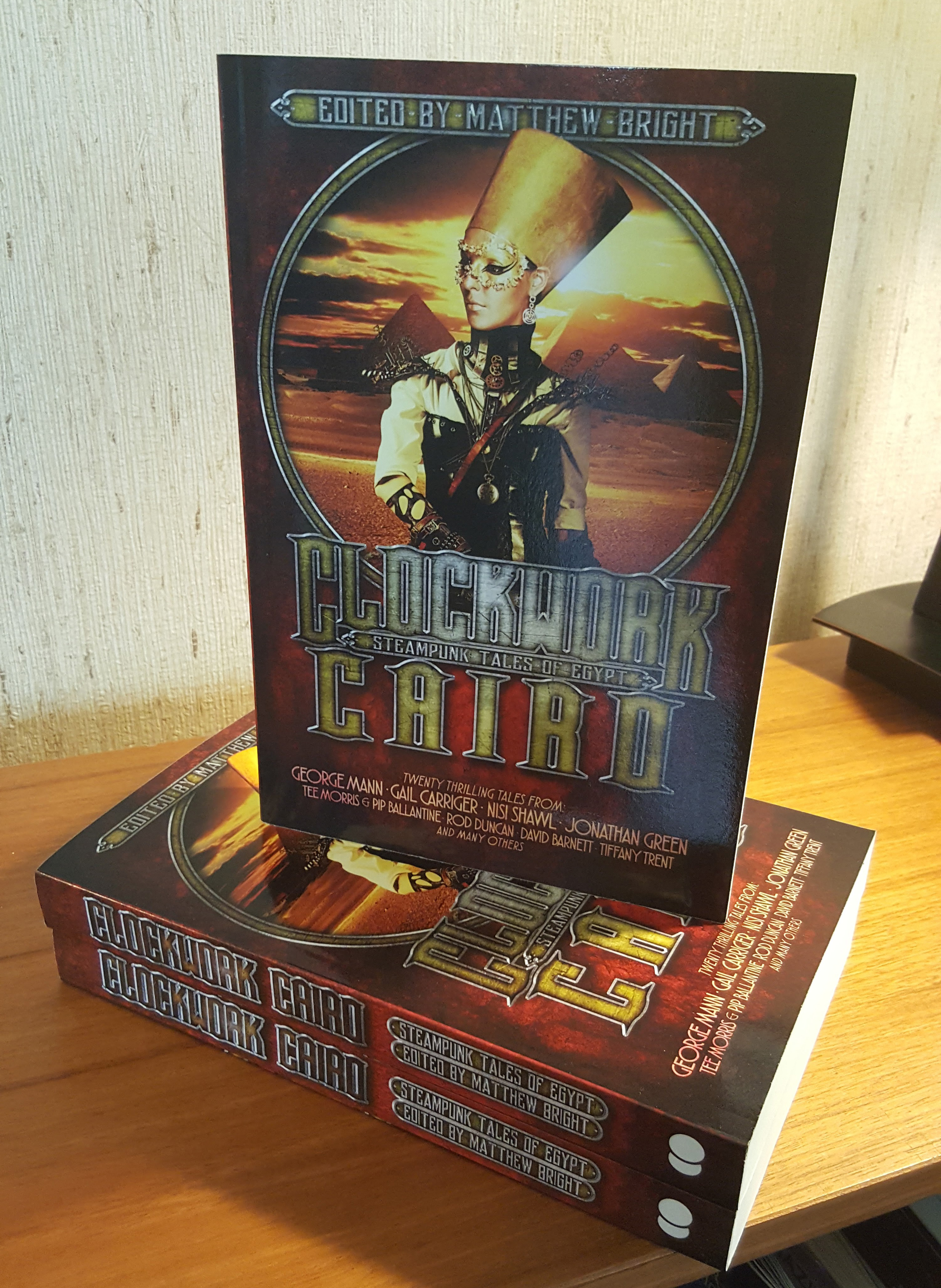 A stack of Clockwork cairo books