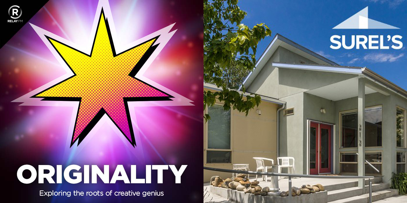 ORIGINALITY logo next to a picture of Surel's Place
