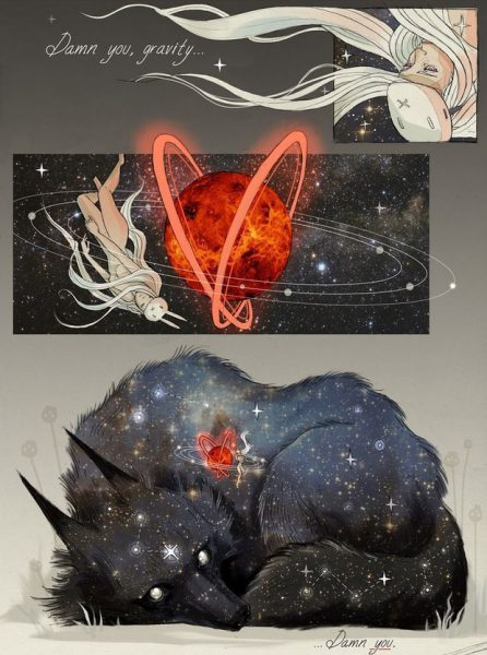Wolf and Bunny artwork by Chiara Bautista